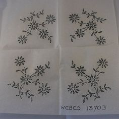 Flower Spray - Vintage Iron-on Transfer - Webco 13703