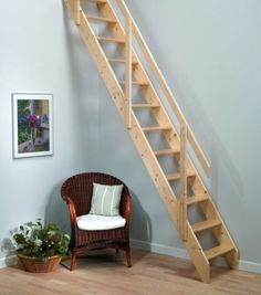 Madrid Wooden Space Saver Staircase Kit (Loft Stair / Ladder) | eBay - £118.00