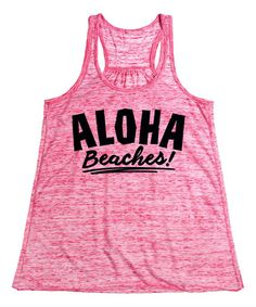 Another great find on #zulily! Red Marble 'Aloha Beaches' Tank #zulilyfinds