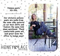 Honey and Lace Palazzo pants