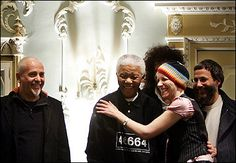 Nelson Mandela and Cat Stevens (Yusuf Islam)...and his wife