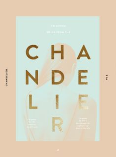 Cool Poster Design, Chandelier. #GraphicDesign #Poster #Art