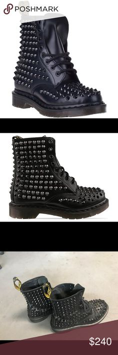 Doc Martens Spikes One spike is missing but besides that it's in great condition as seen on pics posted. Shoes Combat & Moto Boots