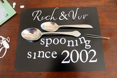 Spooning artwork. A unique and easy wedding or anniversary gift.