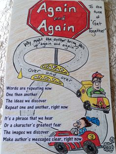 Notice & Note Close Reading Signpost sing-a-long: Again and again