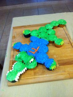 Florida Gator Cupcakes