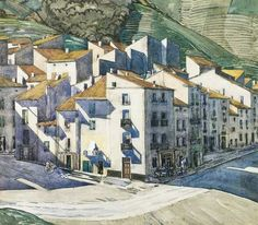 A Hill Town, Southern France, by Charles Rennie Mackintosh