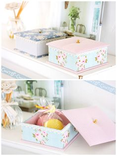 DIY Cath Kidson Inpired Shabby Storage Boxes ! (all shapes & sizes) !