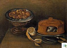 Juan (Fray) Sanchez Cotan Nachfolger  (Orgaz 1561 - 1627 Granada) Stillleben mit Schnecken, Fischpastete und Zitrone Öl auf Leinwand 56 x 76 cm Provenienz: Wiener Privatsammlung
