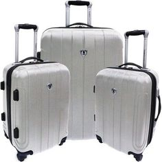 Travelers Choice Luggage Cambridge Three Piece Hardshell Spinner Set, Silver Gray, One Size . Read more at http://www.zone355.com/travelers-choice-luggage-cambridge-three-piece-hardshell-spinner-set-silver-gray-one-size/