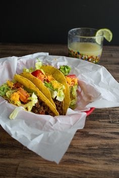 Chez Us | Crispy American Tacos | http://chezus.com--Hooray for Taco Tuesday!