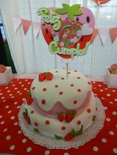 Torta pastel de frutillita,Rosita Fresita.