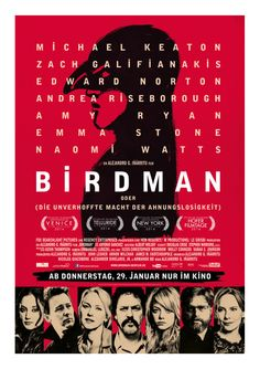 Birdman, 2014, Schwarze Komödie, von Alejandro González Iñárritu