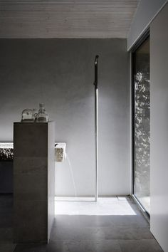 Bathroom in Cáceres House with a freestanding shower.