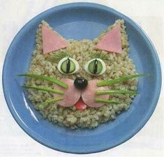 Food Art For Kids, Cooking With Kids, Children Food, Toddler Meals, Kids Meals, Cute Food, Good Food, Funny Food, Animal Themed Food