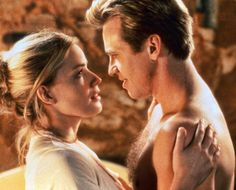 "Elisabeth Shue and Val Kilmer in ""The Saint"", 1997"