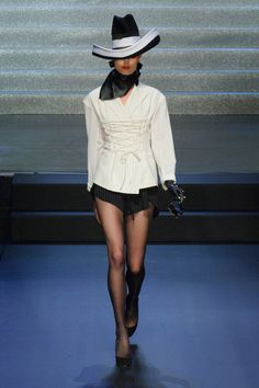 >Jean Paul Gaultier spring 2015 collection show.