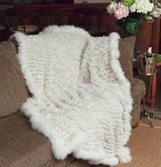 Paula Lishman knit fur blanket