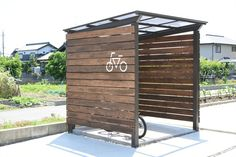 6 photos by BycycleParking Garage Velo, Bike Shelter, Outdoor Shelters, Small Sheds, Bicycle Storage, Bike Shed, Diy Bench, 6 Photos, Shed Storage