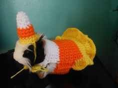Guinea pig Candy Corn  Sweater and Hat Female Guinea by Fancihorse