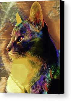 Cat Spirit Guide by Dorothy Berry-Lound.  The cat spirit guide teaches us independence, connection to self, love and curiosity. An animal totem that gives good cuddle. Spiritual, magical, shamanic, new age. #printsavaiable #artforsale