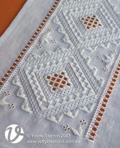 hardanger patterns free | Anniken Hardanger runner pattern is available for purchase through the ...