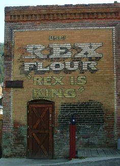https://flic.kr/p/drwiuH   Rex Flour Ghost Sign   Pony, Montana