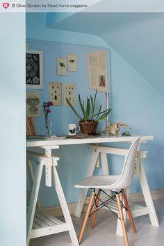 study desk + eames chair