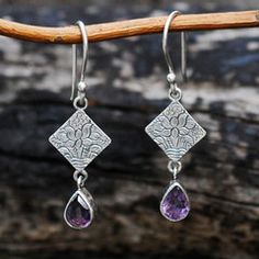 Love these! Sivana — Amethyst Utpala Earrings