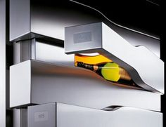 Veuve Clicquot's Vertical Limit Champagne Fridge by Porsche Design (2)