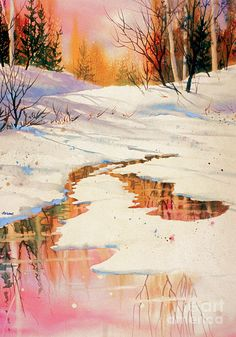 Winter Rose Ii Painting - Winter Rose II by Teresa Ascone