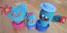 Famille de cactus amigurumi lot de 3 homme femme fille