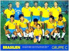 Equipos de fútbol: SELECCIÓN DE BRASIL contra Japón 23/07/1989