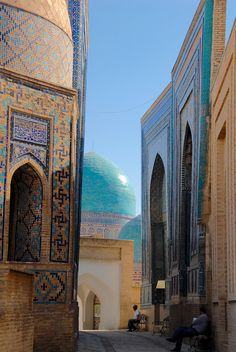 Shakhi Zinda is a magnificent necropolis in Samarkand, Uzbekistan. It consistins of eleven mausoleums that can take your breath away.