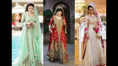 10 Brand New and Latest Pakistani Bridal Dresses - Fashion Hacks Latest Bridal Dresses, Pakistani Bridal Dresses, Wedding Dresses, Kimono Top, Sari, Brand New, Collection, Tops, Women
