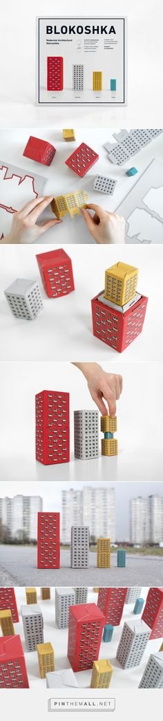 BLOKOSHKA - Modernist Architectural Matryoshka -  Packaging of the World - Creative Package Design Gallery - http://www.packagingoftheworld.com/2016/07/blokoshka-modernist-architectural.html