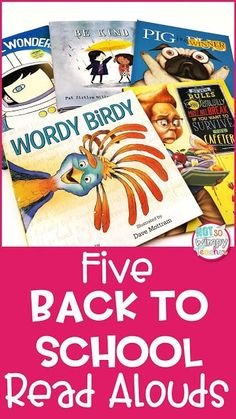 These back to school read alouds are unique! They aren't the same books that students have been hearing at the beginning of the year.