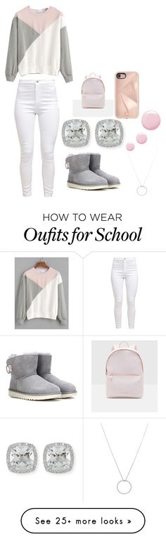 """""""School"""" by destinynunez23 on Polyvore featuring UGG, Frederic Sage, Roberto Coin, Topshop, Rebecca Minkoff and Ted Baker"""