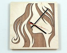 Wooden Wall Clocks | 12'' Wooden Wall Clock / Ho me Decor / Housewares / Clock ...
