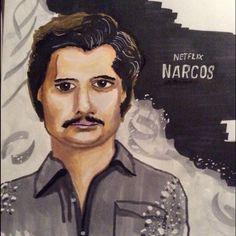 Narcos einfache Zeichnung