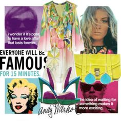 Celebrating Andy Warhol. 60's vibe