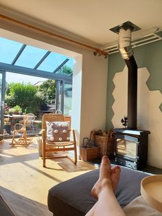 lean to Garden room Open wall with lean to conservatory. Bright and increased space. to garden room Garden Room, Room, Norway House, House, Conservatory Dining Room, Open Plan Kitchen Dining, New Homes, Rooms Reveal, Living Room Reveal