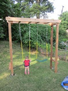 Weieroriginal: The Arbor Swing set --- would be so pretty with slab swings and ivy creeping on it!