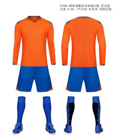 Men long sleeve soccer sets men sports training sets male football jerseys  and shorts adult running cfddde26a