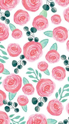 Ideas Flowers Wallpaper For Phone Iphone Backgrounds Floral Prints Floral Wallpaper Iphone, Flowery Wallpaper, Rose Wallpaper, Pattern Wallpaper, Wallpaper Designs, Cute Backgrounds, Cute Wallpapers, Wallpaper Backgrounds, Floral Wallpapers