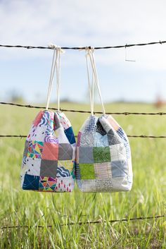More patchwork drawstring bags - Noodlehead