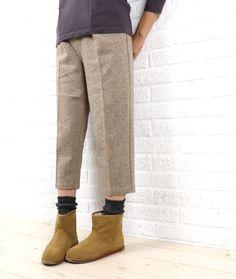 glazウール ミルド加工 天竺 パンツ Sweatpants, Fashion, Blue, Moda, Fashion Styles, Fashion Illustrations