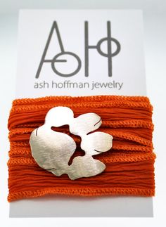 Clemson Tiger wrap bracelet by Ash Hoffman Jewelry on Etsy