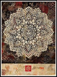 artnet Galleries: Mandala by Shepard Fairey from Black Rat Projects
