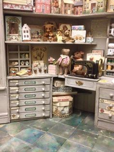The busy miniature toy room in 1/12 scale by Cri's mini